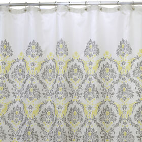Picture of Gray and Yellow In a Daze Shower Curtain