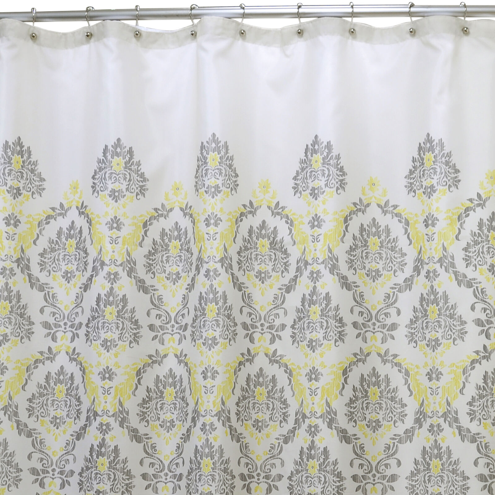Great Gray And Yellow In A Daze Shower Curtain ...