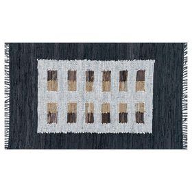 Picture of Tribal Black & Multi-Color Accent Rug- 3 x 5 ft