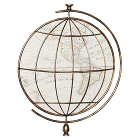 Picture of Metal Globe Wall Art- 17 x 20-in
