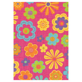 Picture of D110 Pink Multicolor Meadow Rug- 5x7 ft