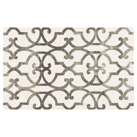 Picture of A224 Ivory and Charcoal Space Dyed Rug