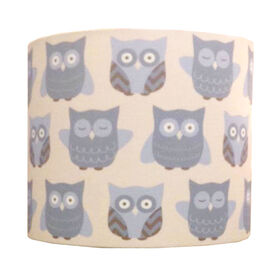 Picture of Blue Owl Pattern Lamp Shade 10x10x9-in