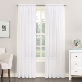 Picture of White Sheer Window Curtain Panel