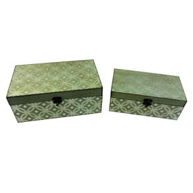 Picture of Large Gray Print Wood Box (sold separately)