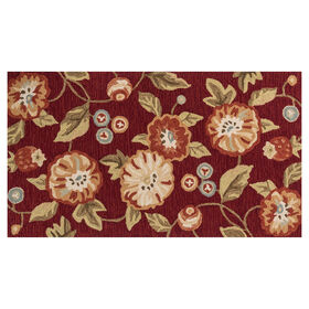 Picture of A98 Red Floral Rug- 3x5 ft