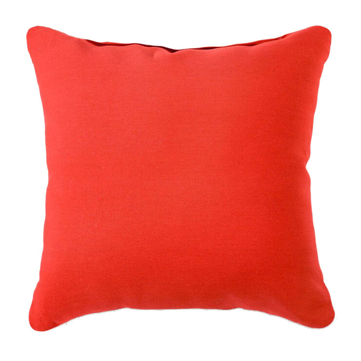 Duckcloth Pillow - Red, 25 in.