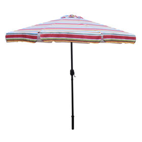 Picture of 9ft. Crank Tilt Umbrella, Bright Stripe
