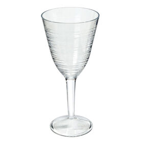 Picture of Siena Bamboo Rings Wine Glass - Clear