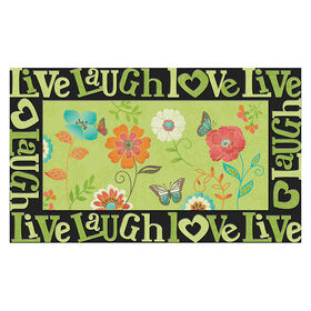 Picture of Floral Kisses Doormat- 18x30 in.
