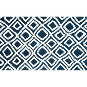 Picture of A121 Navy Charlotte Geo Rug