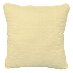 Picture of Yellow Quilted Pillow - 18in