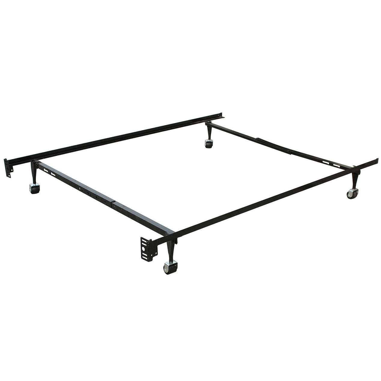 Metal mattress frame twin full at home for Twin mattress and frame