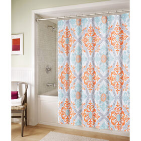 Picture of Blue and Orange Marcone Shower Curtain
