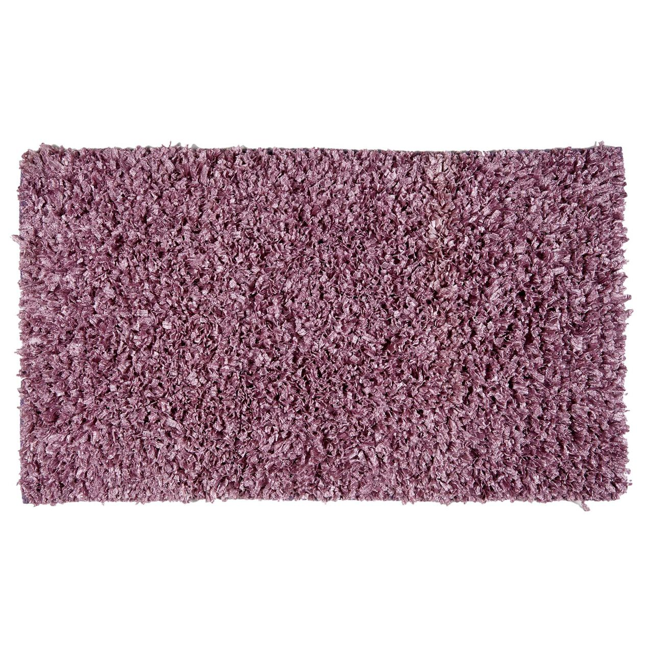 Purple Shiny Fur Shag Accent Rug 27 X 45-in