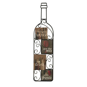 Picture of 6 X 25-in Metal Wine Lovers
