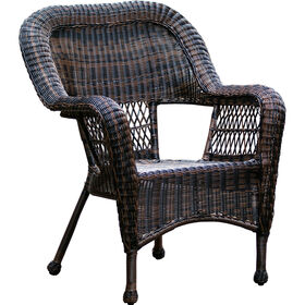Picture of Dark Brown Wicker Chair