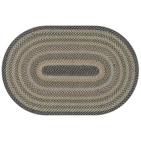 Picture of Jute Navy & Gray Braided Rug- 8 x 10 ft