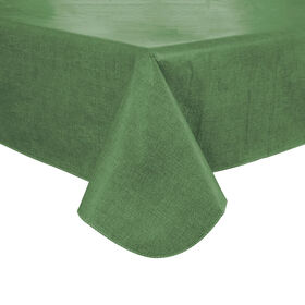Picture of Green Woven Straw Vinyl Tablecloth