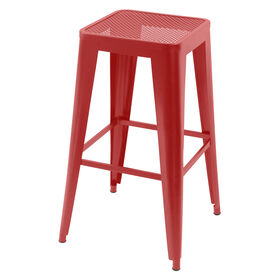 Picture of Wrought Iron Barstool - Red 29 in.