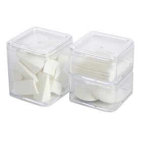 Picture of Stackable Clear Cosmetic Box with Lid - set of 3