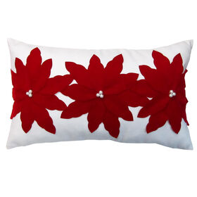 Picture of Poinsettias Christmas Pillow 13x22
