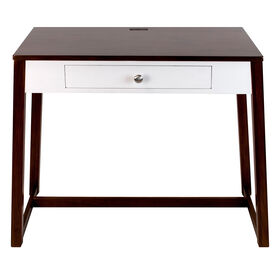 Picture of Wooden Desk with White Drawer 40X30