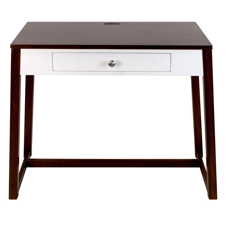 Wooden Desk With White Drawer 40x30