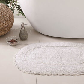 Picture of 2PC RUG SET CROCHET WHT