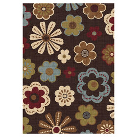 Picture of D109 Chocolate Multicolor Meadow Rug