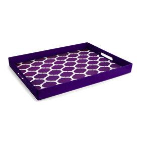 Picture of Lattice Tray - Purple and White