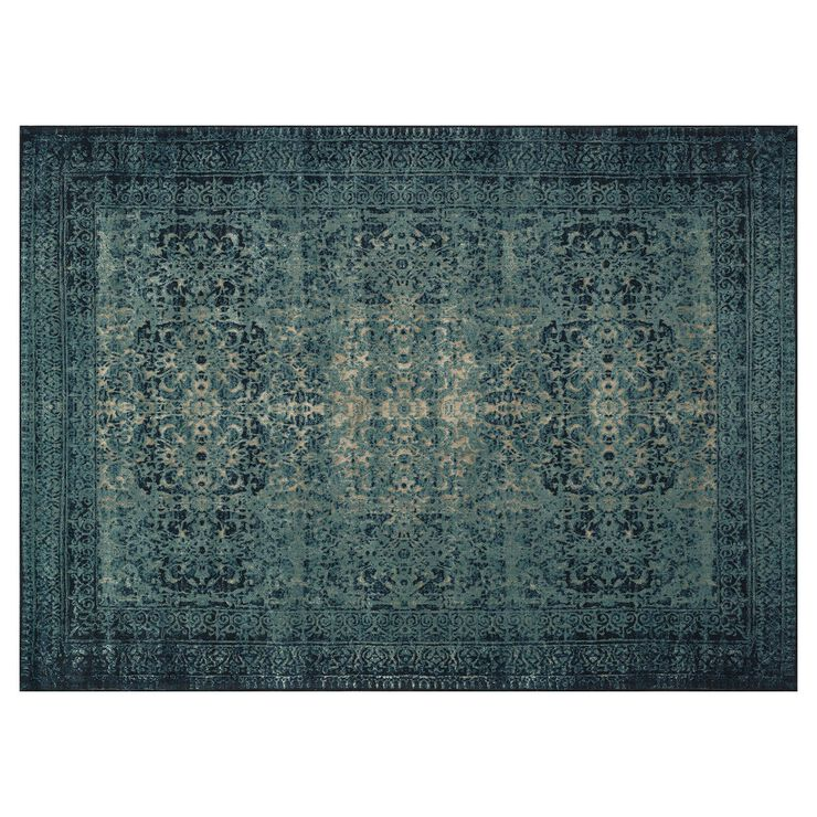A197 Indigo Blue Rug- 5 x 7 ft