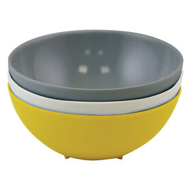 Picture of Yellow and Gray Melamine Bowls - Set of 3