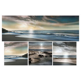 Picture of 36 X 24-in Coastal Sunset Studio Art- 4 Piece