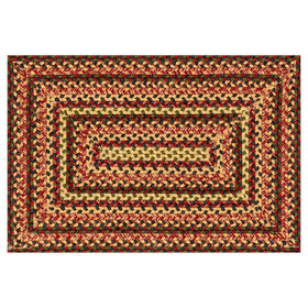 Picture of Red Multi Braided Accent Rug