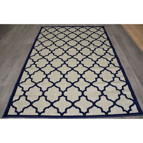 Picture of E125 Navy Trellis Cancun Rug- 3x5 ft
