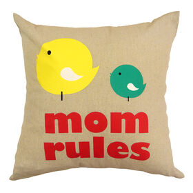 Picture of 18 in. Mom Rules Pillow