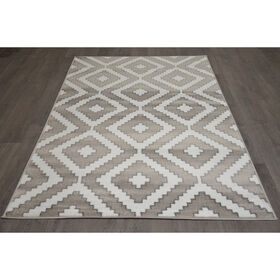 Picture of D320 AZTEC DIAMOND GRY/WHT 5X7