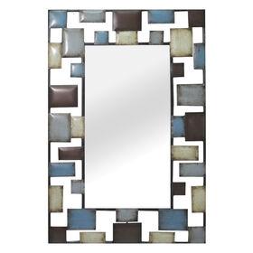 22 X 23-in Brown & Blue Mirror