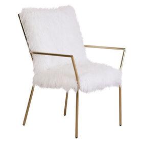 Alexis Gold Fur Chair