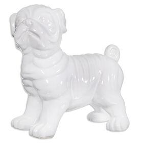 Picture of White Pug Figurine- 9 in