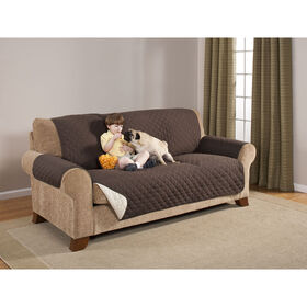 Picture of Sofa Protector- Brown & Tan