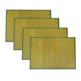Picture of Brown and Olive Chevron Bamboo Place Mat- Set of 4