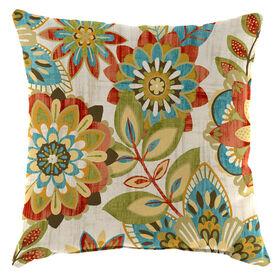 Trendi Teal Square Pillow