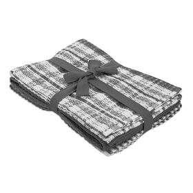 Picture of Gray Plaid Tea Towels - 3 Pack