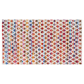 Picture of White Wool Chindi Accent Rug 27 X 45-in