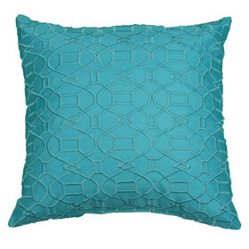 Picture of Teal Embossed Pillow - 18in