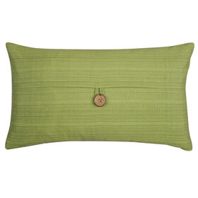 Picture of Green Button Linen Pillow- 13x22 in.