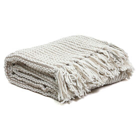 Picture of Ivory Chain Link Chenille Throw