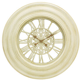 Picture of Antique White and Gold Wall Clock